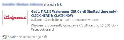 Types Of Gift Cards At Walgreens - get 1 f r e e walgreens gift card limited time only facebook scam