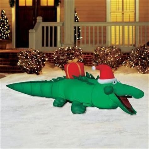 cajun christmas yard decor 7 5 alligator gemmy airblown up light up yard decor and