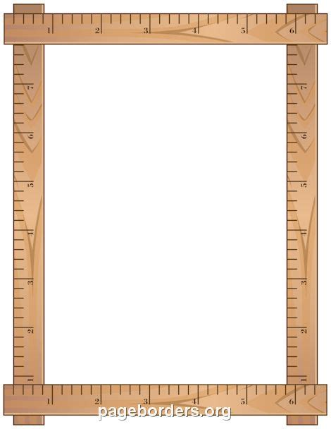 free printable vector ruler printable ruler border use the border in microsoft word
