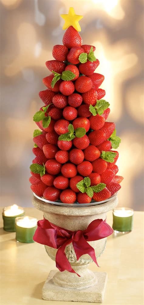 strawberry christmas tree appetizer recipes pinterest