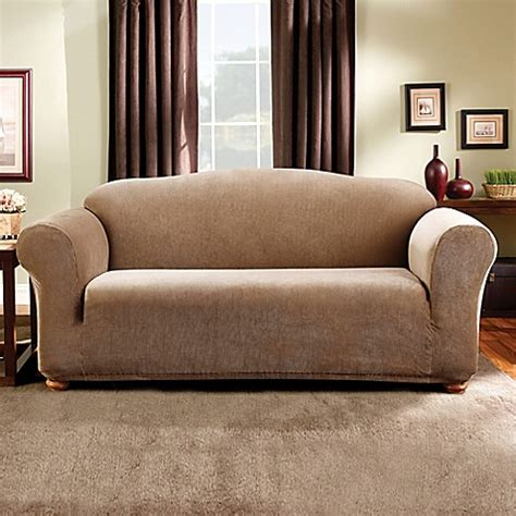 sure fit slipcovers bed bath beyond sure fit 174 madison stripe sofa slipcover bed bath beyond