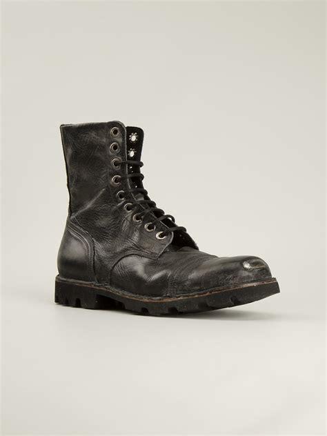 diesel boots mens diesel steel pro boots in black for lyst