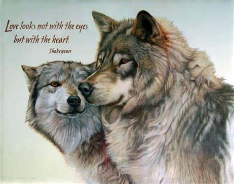 love     eyes    heart wolves