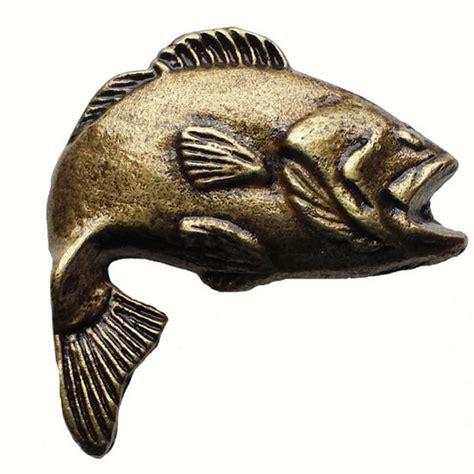 Kitchen Cabinet Hardware Fish Fish Collection Big Bass 2 Cabinet Knob 2 1 8 54mm
