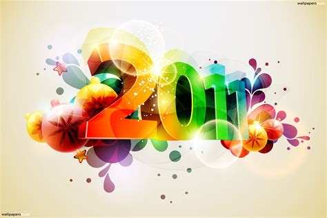 ideal wallpaper design of the year new year wallpapers 2011 colorful new year wallpapers