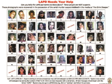 lapd posts grim sleeper photos to in