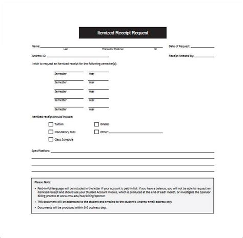 Child Fitness Tax Credit Receipt Template by Receipt Template Doc For Word Documents In Different Types