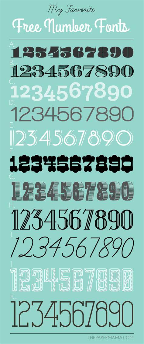 font number image gallery number fonts free