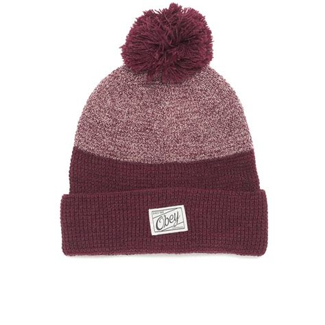 obey clothing s beanie free uk