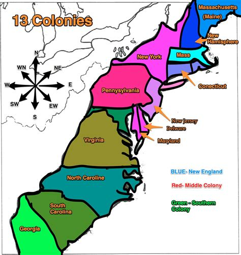 thirteen colonies map where are the 13 colonies new calendar template site