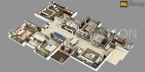 modern firefly floor l 3d villa floor plan arch student