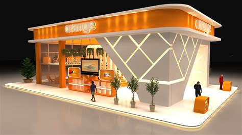 booth design in egypt orange egypt booth on behance