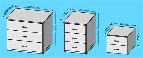 Bedside Tables Types And Measurements Bedroom Dresser Dimensions