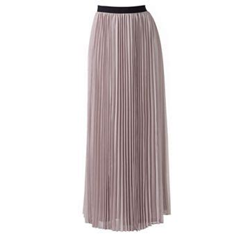 pleated chiffon maxi skirt style for