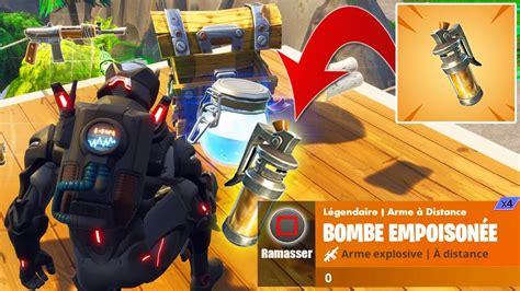 nouvelle bombe empoisonnee fortnite youtube