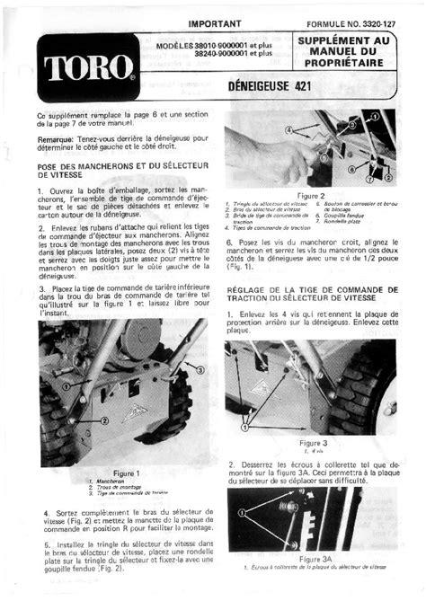 Toro 38010 421 Snowblower Manual 1979