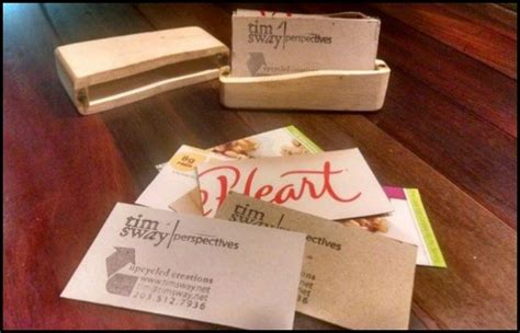 upcycled business upcycled business cards from cereal boxes craft