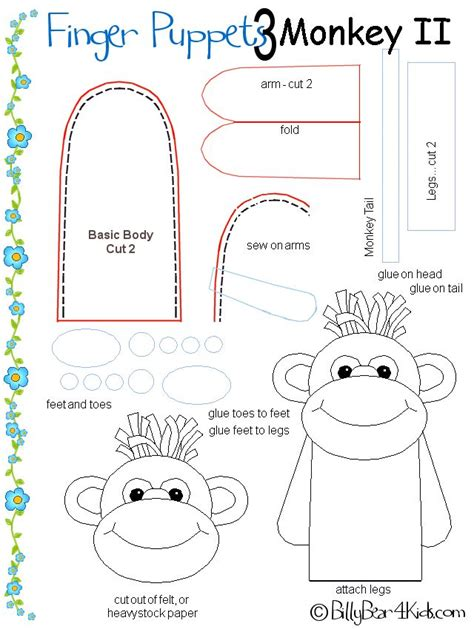 paper bag monkey pattern 197 best puppet making images on pinterest puppets