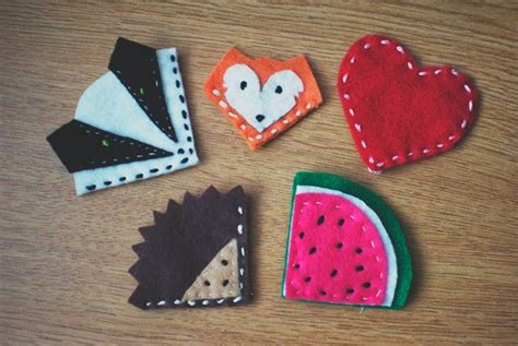 Easy Handmade Bookmarks - handmade felt bookmarks pictures photos and images for