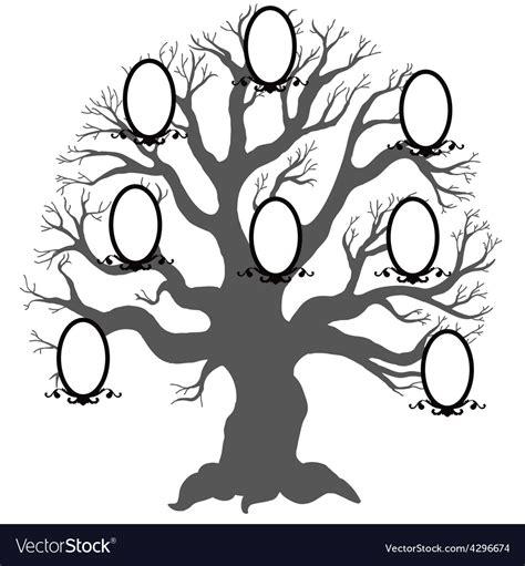Family Tree Royalty Free Vector Image Vectorstock Family Tree Genealogy Vector Stock