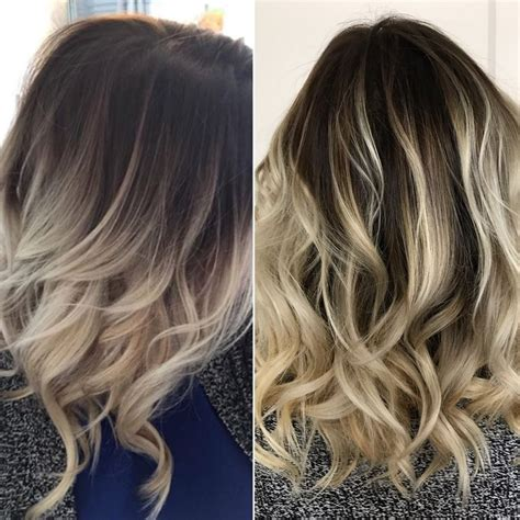 how to add brown roots on blonde hair ash blonde balayage on dark brown hair