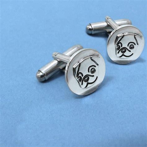 Handmade Silver Cufflinks - handmade sterling silver pug cufflinks by plain pugs