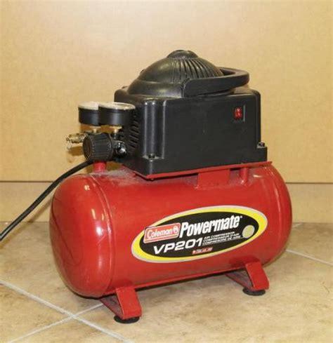 coleman powermate vp201 air compressor 2 gallon tank 70 100psi ebay
