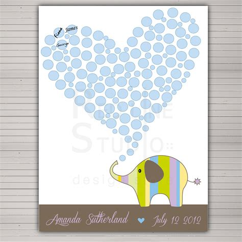 Baby Shower Guess Book baby shower guest book alternative printable diy
