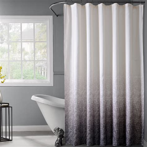 ombre shower curtain dainty home lace ombre shower curtain reviews wayfair