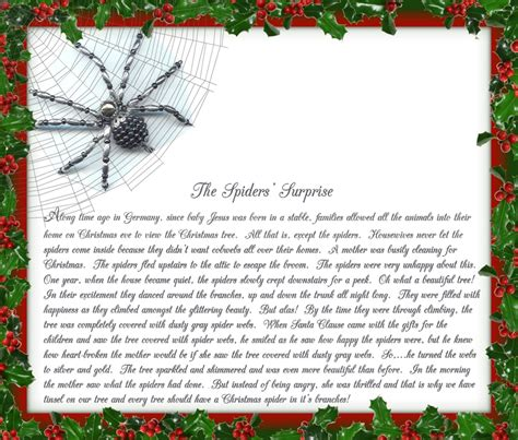 the legend of the christmas tree poem gardening o eeek gothidays once upon a spider