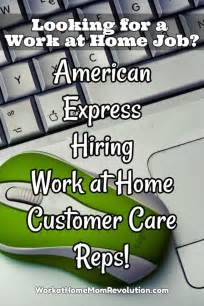 work at home american express hiring customer care reps