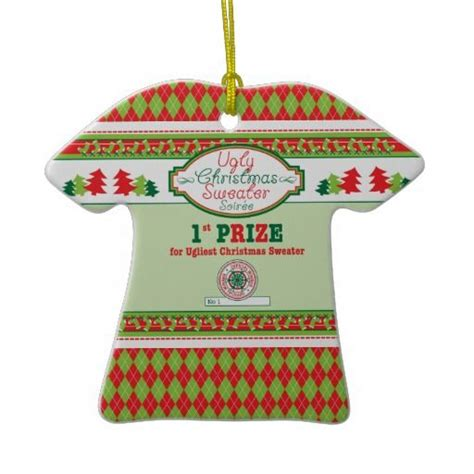 ugly christmas sweater party 1st place prize xmas