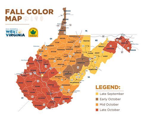 fall colors map shenandoah fall color peak 2017 todayss org