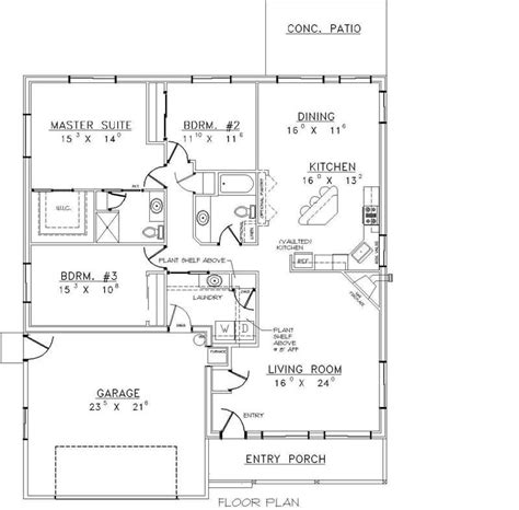 concrete block floor plans house plan 107 1096 3 bedroom