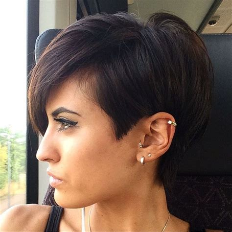 pixie to long hair extensions 25 best brunette pixie cut ideas on pinterest pixie