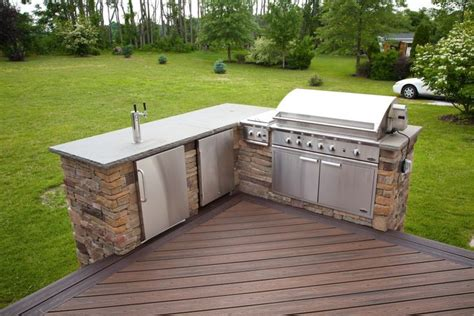 Diy Outdoor Kitchen Ideas Terrific Deck Plans With Outdoor Kitchen With Stainless Steel Outdoor Kitchen Faucet And Built