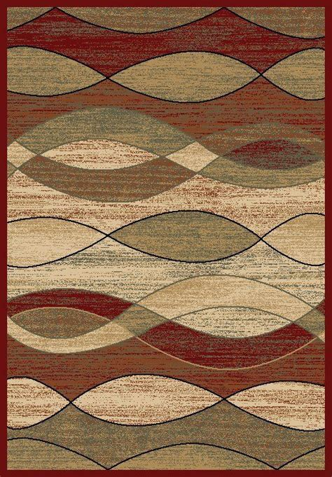 8x10 Area Rug Rugs New Modern Abstract Wavy Waves Red 8x10 Black Area Rug