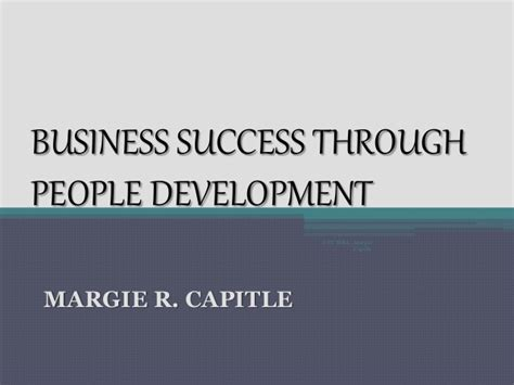 Mba Develop Business Peopel by Business Success Through Development