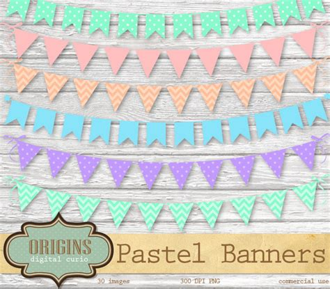 Blus Polka Nevada Pastel We12116 pastel bunting banner clipart graphics on creative market