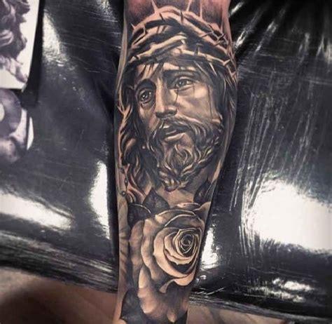 jesus thorn tattoo best 25 jesus tattoo sleeve ideas on pinterest angel