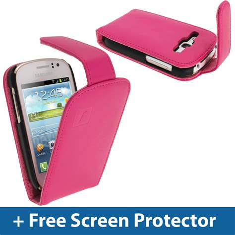 Casing Hp Samsung Galaxy Fame pink leather flip for samsung galaxy fame s6810 android smartphone cover ebay