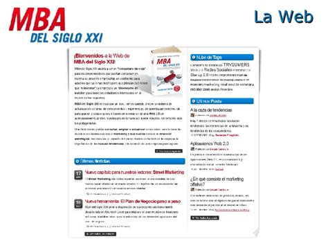 Mba Web mba siglo xxi web