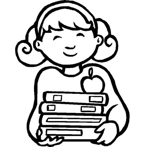 coloring page of school girl little girl coloring pages the all activity gianfreda net