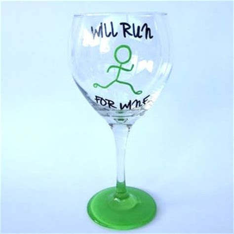 Running Wine Glass Paw Print Fetch My Wine Painted From S Glass