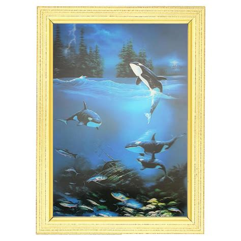 unicorn lenticular 3d picture animal poster painting home dolphins lenticular 3d picture animal poster painting home