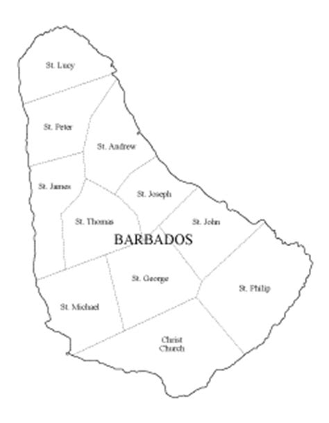 barbados maps including outline and topographical maps 個別 blank map blank map of barbados の写真 画像 動画 freemap s