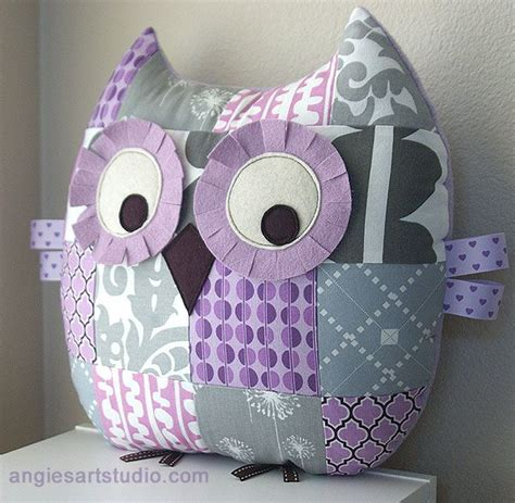 Patchwork Owl Cushion Pattern - 25 best ideas about owl pillow pattern on owl