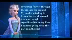Disney s frozen lyrics let it go sing along video version