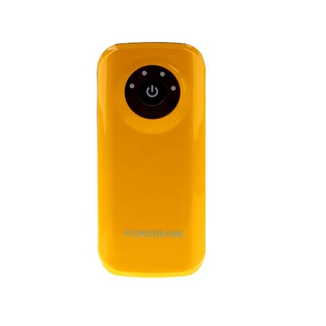 Quality Powervank Standing 5600mah high quality 5600mah portable power bank with led light yellow