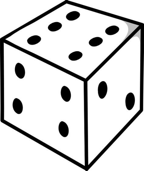 dice outline clip art at clker com vector clip art